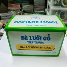 Que Đè Lưỡi Gỗ Tiệt Trùng - BALAC WOOD STICKS TONGUE DEPRESSOR