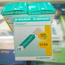 Que Thử Máy Đo Đường Huyết Omnites 3 B.Braun