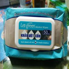 Khăn Ướt Cồn Let green Alcohol Wipes