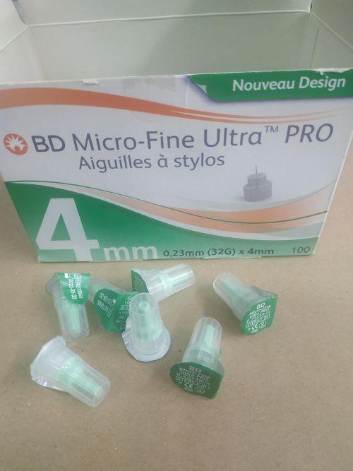 Đầu Kim Tiểu Đường BD Micro-Fine Ultra PRO