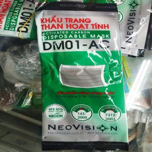 Khẩu Trang Than Hoạt Tính NEOVISION DM01-AC - ACTIVATED CARBON DISPOSABLE MASK